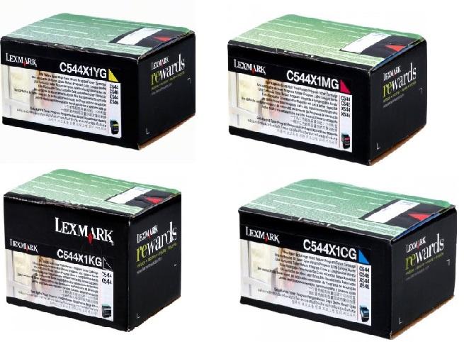 Lexmark c544x1x multipack 4 colori: cyano, magenta, giallo, nero. Alta capacit� 4.000 pagine