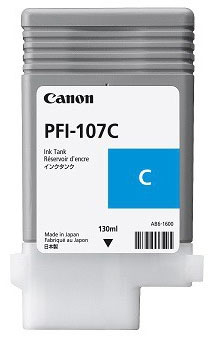 Canon pfi-107c cartuccia cyano, capacit� 130ml