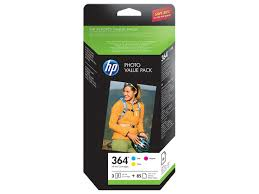 toner e cartucce - ch082ee Kit fotografico, Hp 364 cyano, magenta, giallo. 85 fogli carta photo 10*15.