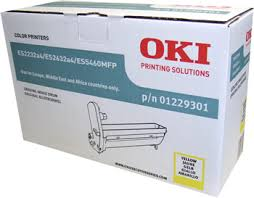 Oki 01229301 tamburo di stampa giallo, durata 20.000 pagine