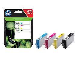 toner e cartucce - N9J74AE Multipack nero / ciano / magenta / giallo 4x inchiostro HP 364XL: bk+c+m+c+y