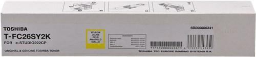 Toshiba T-FC26SY2K toner originale giallo, durata 2.000 pagine