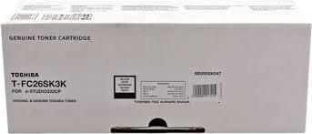 Toshiba T-FC26SK3K toner originale nero, durata 3.000 pagine