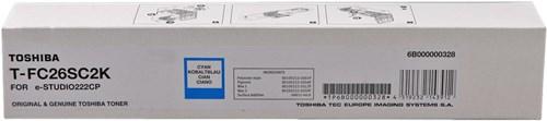 Toshiba T-FC26SC2K toner originale cyano, durata 2.000 pagine