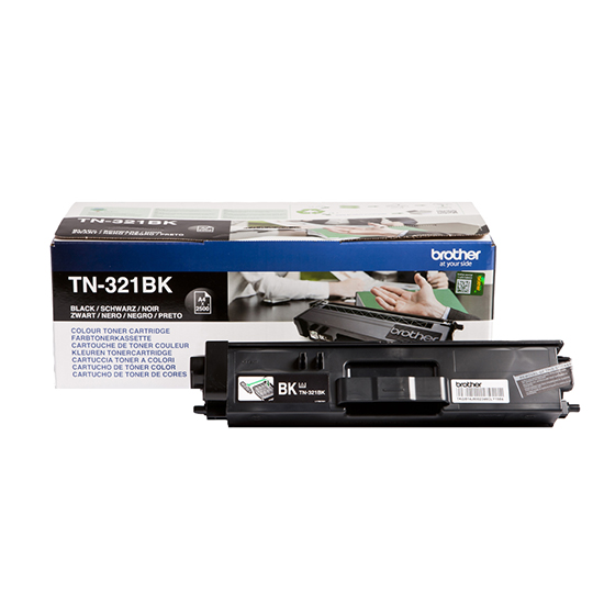 Brother tn-321bk toner nero, durata 2.500 pagine