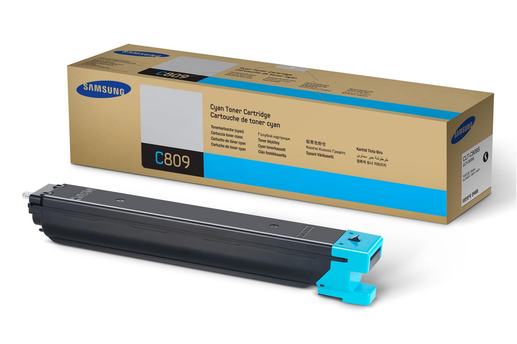 Samsung CLT-C809S toner  cyano, durata 15.000 pagine