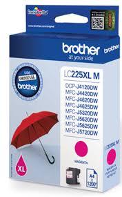 Brother lc-225xlm cartuccia magenta, durata 1.200 pagine