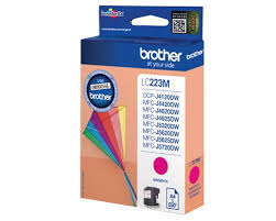 Brother lc-223m cartuccia magenta, durata 550 pagine