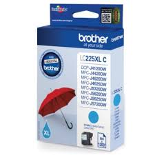 Brother lc-225xlc cartuccia cyano, durata 1.200 pagine