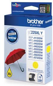 Brother lc-225xly cartuccia giallo, durata 1.200 pagine