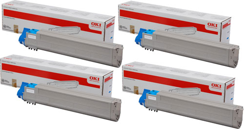 toner e cartucce - 45536507 toner cyano alta capacit�, durata 38.000 pagine