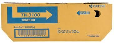 kyocera tk-3100 toner nero, durata 12.500 pagine. Include tonerbag