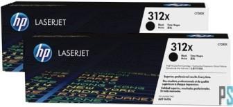 Hp cf380xd toner nero, durata 4.400 pagine. confezione da 2 pezzi