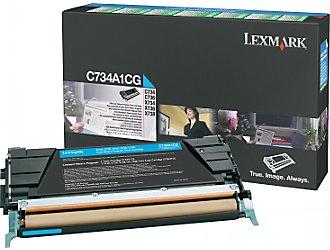 Lexmark c734a1cg toner cyano, durata 6.000 pagine