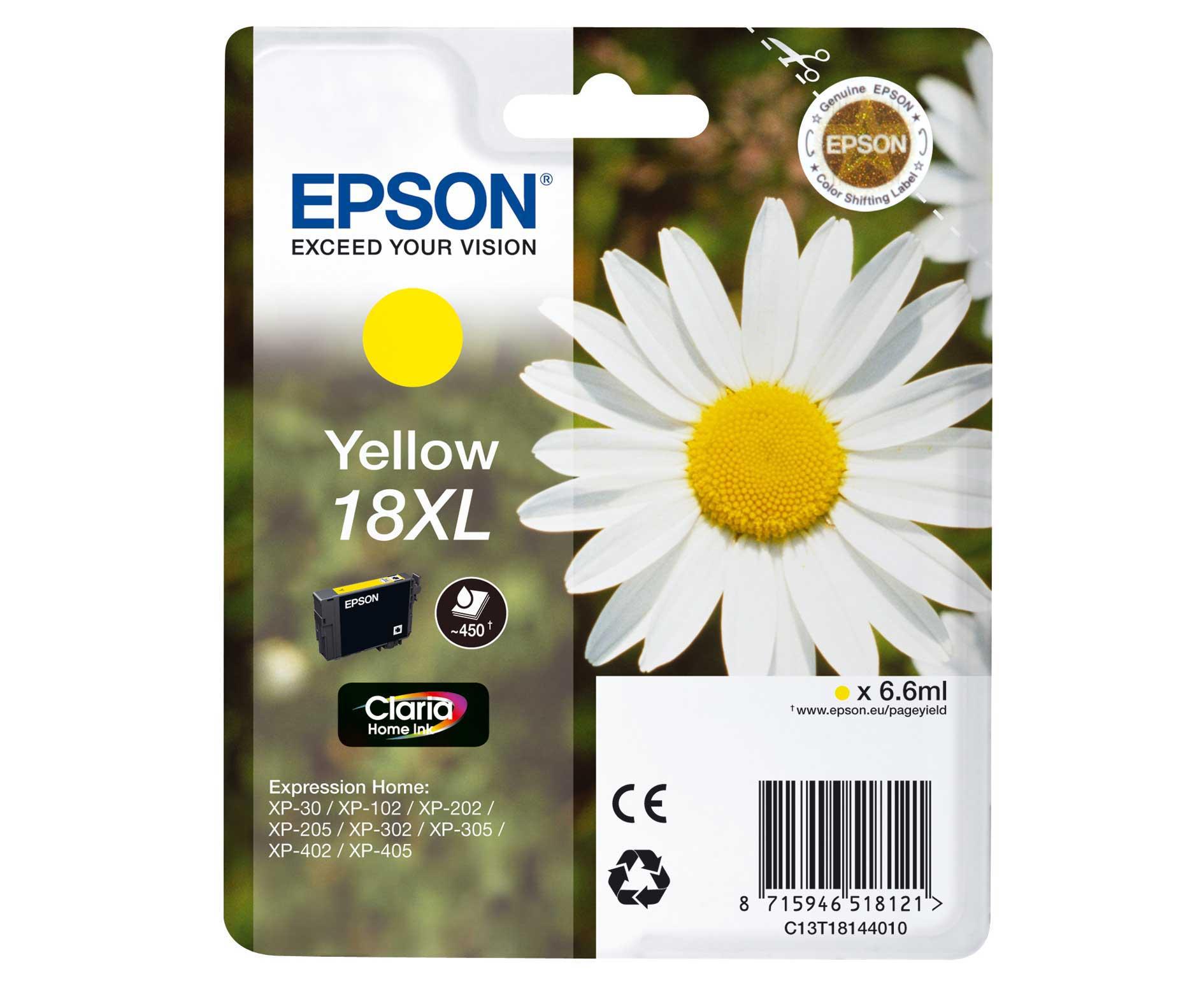 Epson C13T18144010 cartuccia giallo,  durata 450 pagine