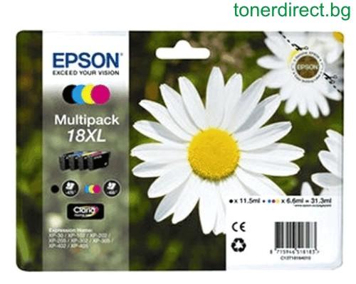 Epson C13T18164010 Multipack Originale alta capacit� XL.  Nero-cyano-magenta-giallo