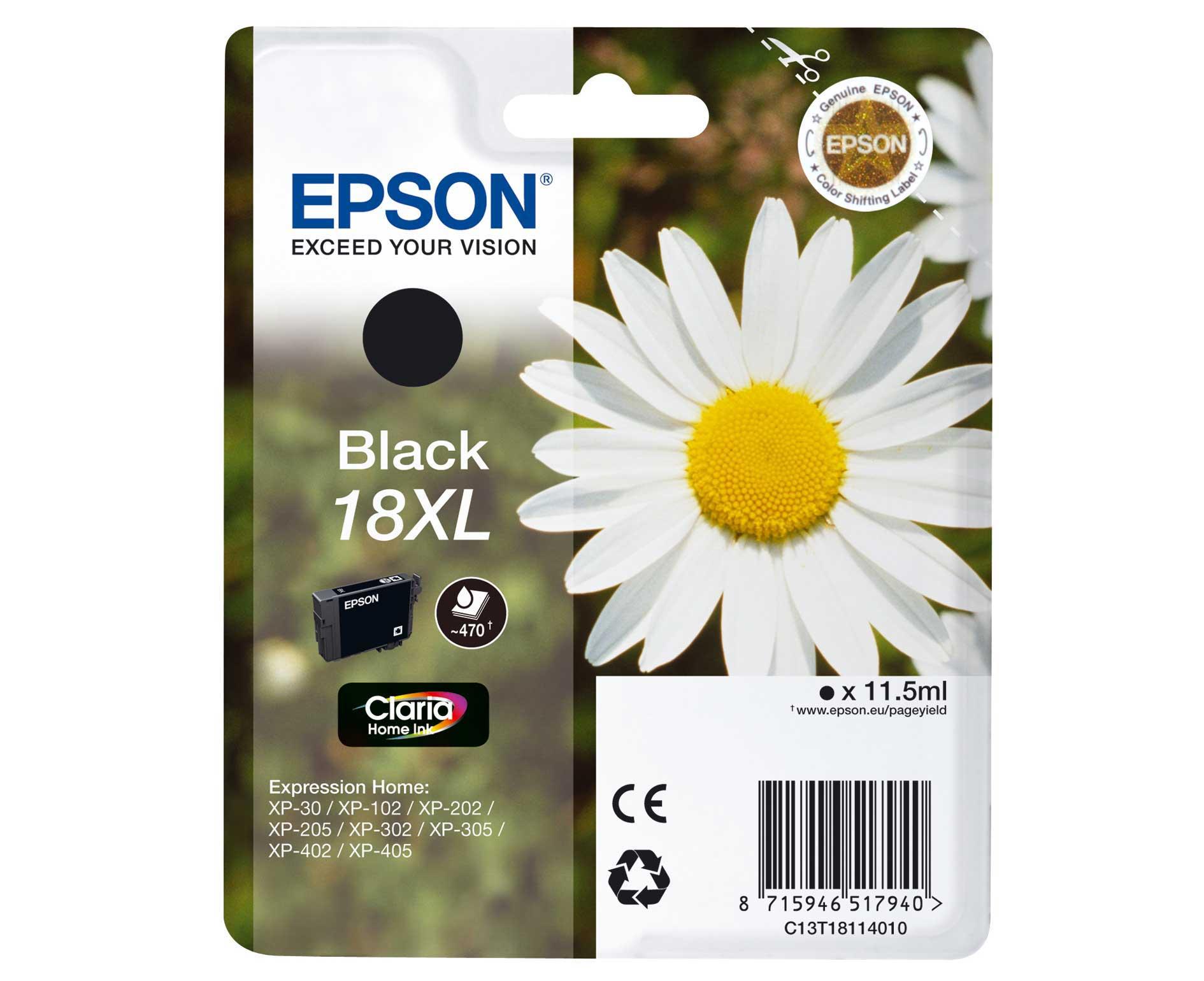 Epson C13T18114010 cartuccia nero, durata  470 pagine