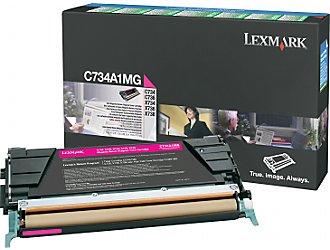 Lexmark c734a1mg toner magenta, durata 6.000 pagine