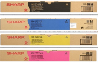 Sharp mx-27gtbx Multipack originale 4 colori: cyano, magenta, giallo, nero