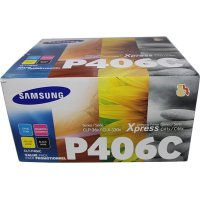 Samsung CLT-P406C Multipack 4 colori nero-cyano-magenta-giallo. (durata colori 1.000 pagine, nero 1.500pagine)