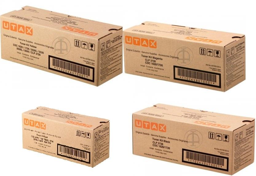 Utax-Triumph Adler 447261001x Multipack originale 4 colori: cyano-magenta-giallo-nero