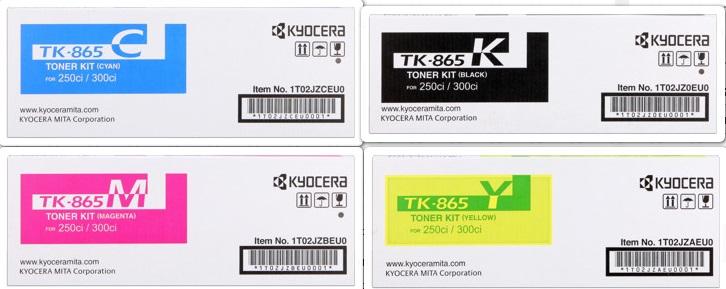kyocera tk-865X multipack 4 colori: cyano, magenta, giallo, nero