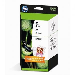 Hp j3m80ae Value Pack nero+colore. Cartuccia 62 colore+cartuccia 62 black.