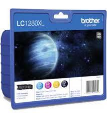 Brother LC-1280XLVALBPDR Multipack nero / ciano / magenta / giallo 4 cartucce d'inchiostro LC-1280XL