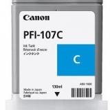 toner e cartucce - pfi-107c cartuccia cyano, capacità 130ml