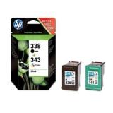 toner e cartucce - SD449EE Multipack nero+colore inchiostro: HP 338 + HP 343