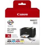 toner e cartucce - 9182B004 Multipack nero / ciano / magenta / giallo 4 cartucce d'inchiostro PGI-1500 XL: bk+c+m+y
