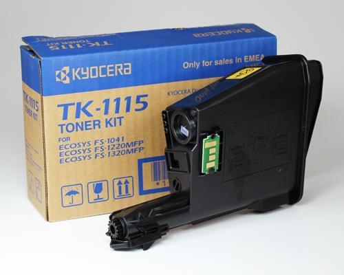 kyocera tk-1115x2 toner nero, durata indicata 1.600 pagine(conf.doppia 2 pezzi)