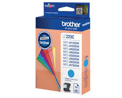 Brother lc-223c cartuccia cyano, durata 550 pagine