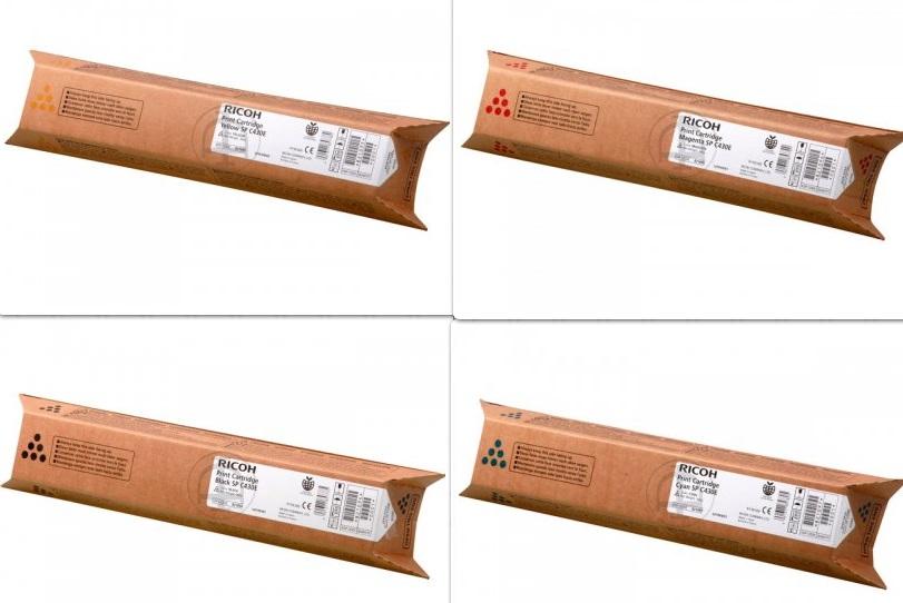 Ricoh 82107x Multipack 4 colori originali : cyano, magenta, giallo, nero, durata 15.000 pagine