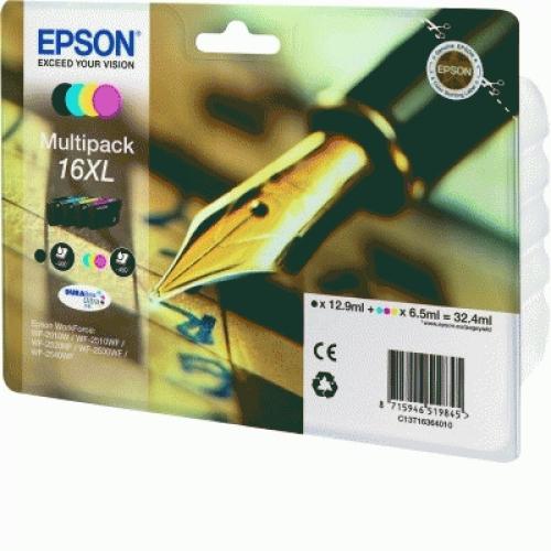 Epson C13T16364010 Multipack nero / ciano / magenta / giallo 4 cartucce d'inchistro XL: T1631 + T1632 + T1633 + T1634