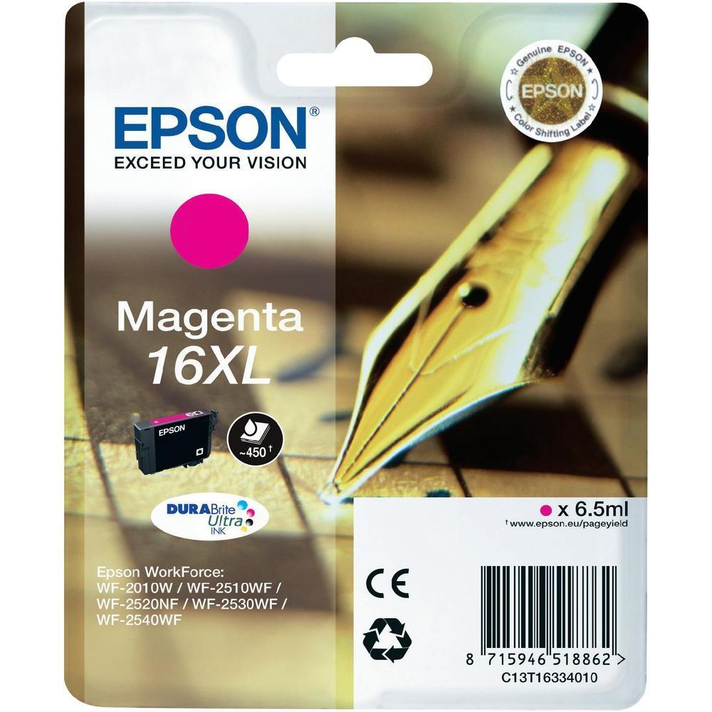 Epson C13T16334010 cartuccia magenta alta capacit�, durata indicata 450 pagine