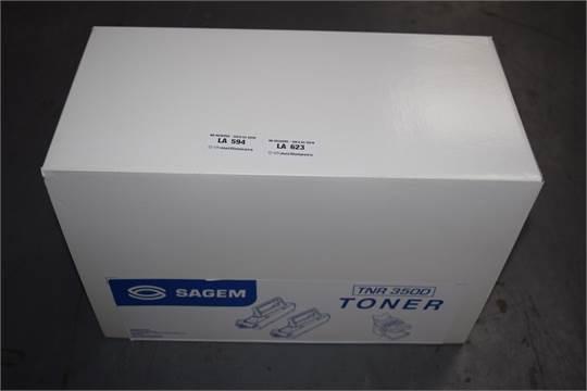 Sagem tnr-350d toner originale nero, durata indicata 6.000 pagine, confezione doppia 2 pezzi.