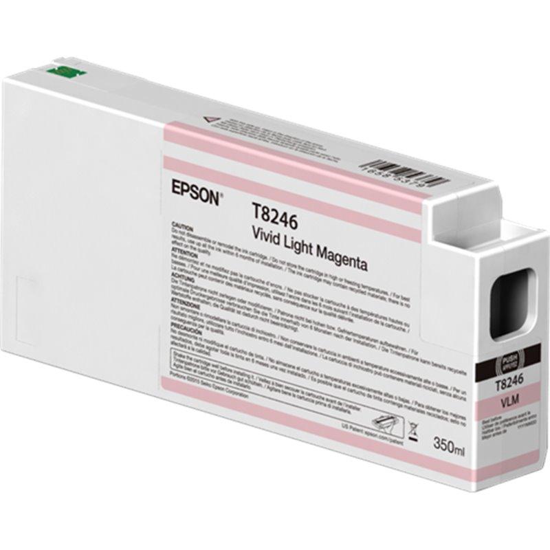 Epson C13T824600 Cartuccia d'inchiostro Magenta (chiaro, vivido) 350ml Ultrachrome HD, UltraChrome HDX