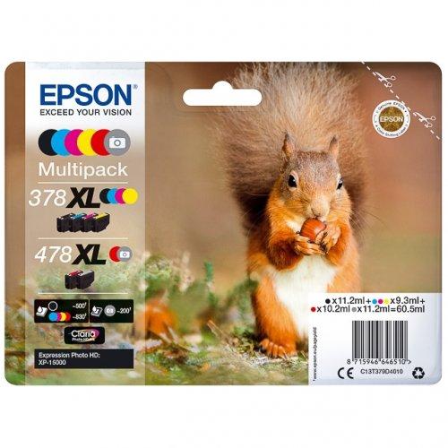 Epson C13T379D4010 Multipack 6 colori: black/ciano/magenta/yellow/red/gray