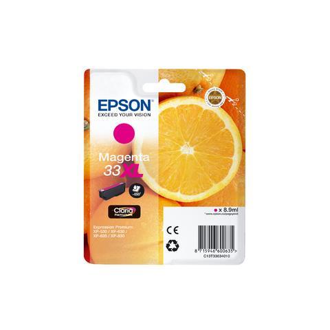 Epson C13T33634010 Cartuccia Originale Magenta (33XL)