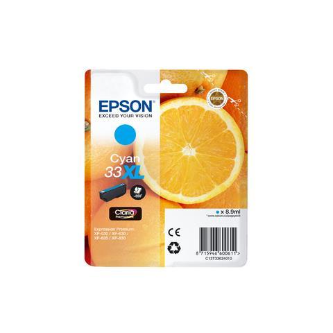 Epson C13T33624010 Cartuccia Originale Ciano (33XL)