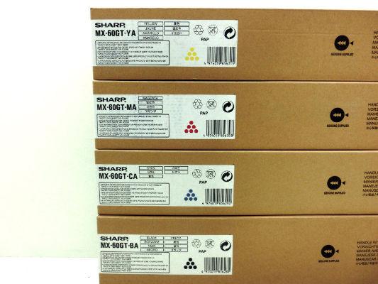 Sharp MX-60GTBA toner nero, durata indicata 40.000 pagine