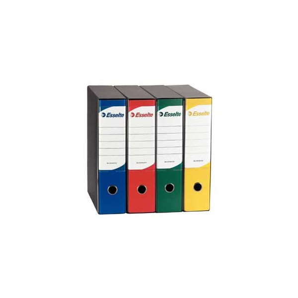 toner e cartucce - Registratore BUSINESS G95 Giallo Dorso 8cm F.To Protocollo ESSELTE Registratore BUSINESS G95 Giallo Dorso 8cm F.To Protocollo ESSELTE. CUSTODIA IN FIBRONE