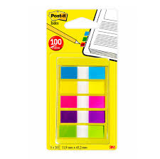 toner e cartucce - Segnapagina Post It Index Mini 12x43.1 Mm 5 Colori Vivaci Post It Conf. 100 Pezzi Segnapagina Post It Index Mini 12x43.1 Mm 5 Colori Vivaci Post It Conf. 100 Pezzi